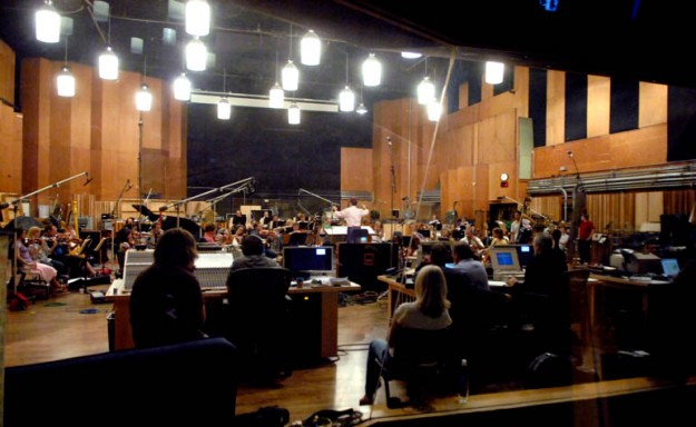 "Conducting my cue from ""Dreamer"" with live orchestra at Fox Newman Studios"